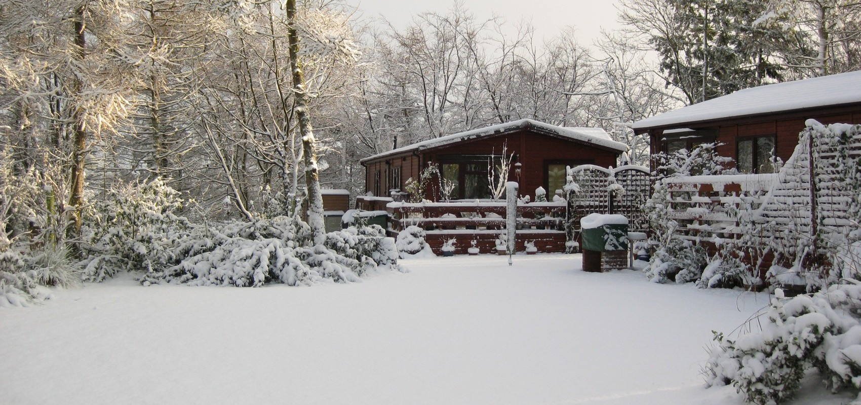 Allerton Holiday Park in Snow
